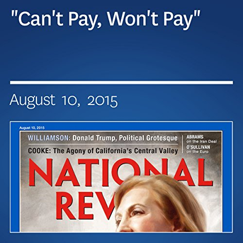 """""""Can't Pay, Won't Pay"""" audiobook cover art"""
