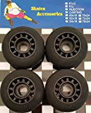 Rovera Roues pour waveboard, Skateboard, vélo Lot Kit 4Roues pour waveboard, Skateboard, vélo, Noir, 70x 24mm