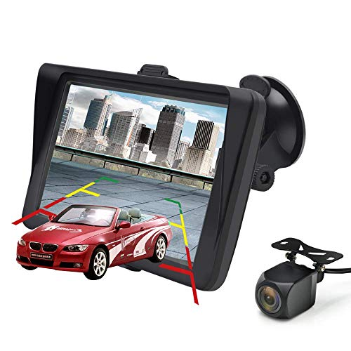 GPS Navi Navigation für Auto 7 Zoll Touchscreen Auto Navigationsgerät mit Bluetooth und Rückfahrkamera, Lebenslang kostenlos Karten-Updates für 52 Länder