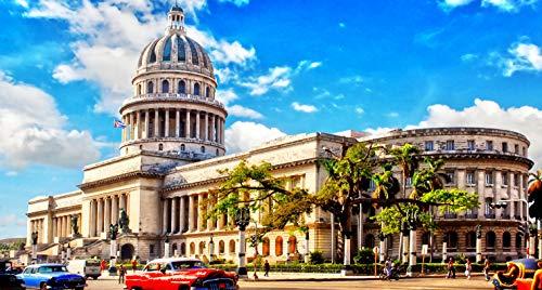 Unbekannt Puzzle 1000 Teile DIY Havanna Kuba KapitolHome Decor Geschenk Klassisches Puzzle 3D Puzzle Spielzeug Einzigartiges Geschenk Home Decor