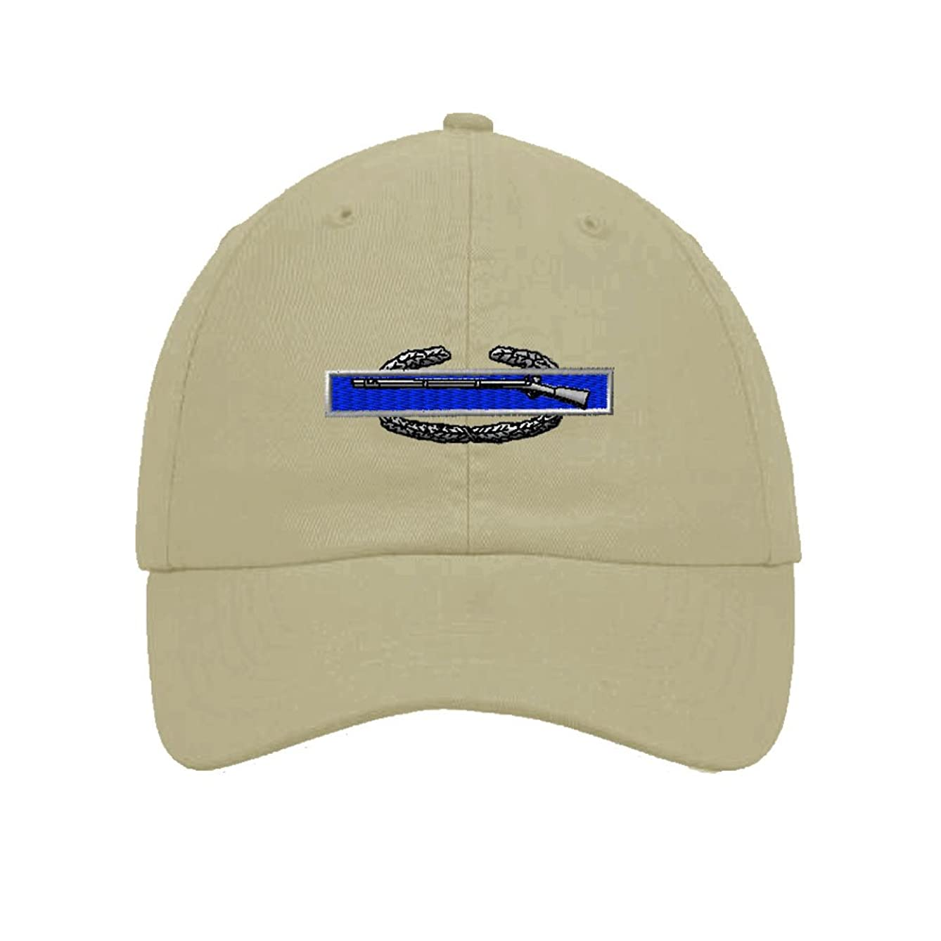 Combat Infantry-Man Badge Embroidery Twill Cotton 6 Panel Low Profile Hat Stone