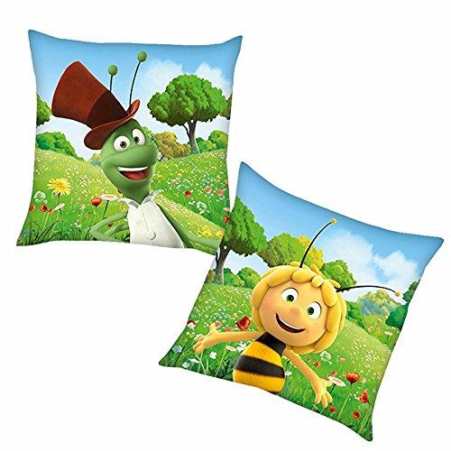 Biene Maja Flip | Kinder Kissen 40 x 40 cm Kuschelkissen | Dekokissen