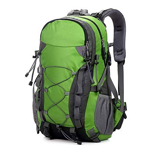 WYJW Wandelrugzak, licht, voor camping, waterdicht, hoge capaciteit, 40 l, zijdelingse nettassen, sleutelopberging – voor outdoor, school