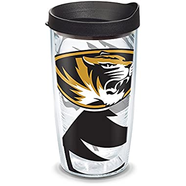 Tervis 1289474 Missouri Tigers Tumbler with Wrap and Black Lid, 16oz, Clear