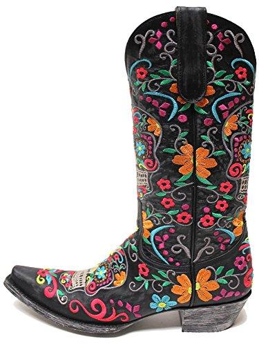 Klak Womens Boots - Black -Black-8.5-M - Old Gringo L1300-1