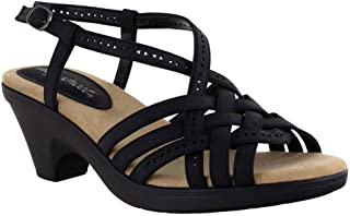 Easy Street Women Sandal,Black,7.5 N US