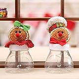 QTMHT Tarro de Dulces de Navidad, Pan de Jengibre Ornamento Adorable, Titular de Caramelo de Chocolate Caja de Almacenamiento de contenedores Caramelo Inicio Juego de 2