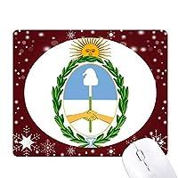 ブエノスアイレスアルゼンチン国章 オフィス用雪ゴムマウスパッド