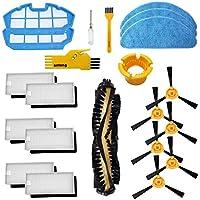 Accesorios para el Robot Aspirador Cecotec Conga Excellence 990 1 Cepillo Principal, 6 filtros Blancos, 6 Cepillos Laterales, 2 Fitlers Azules, 2 Herramienta de Limpieza