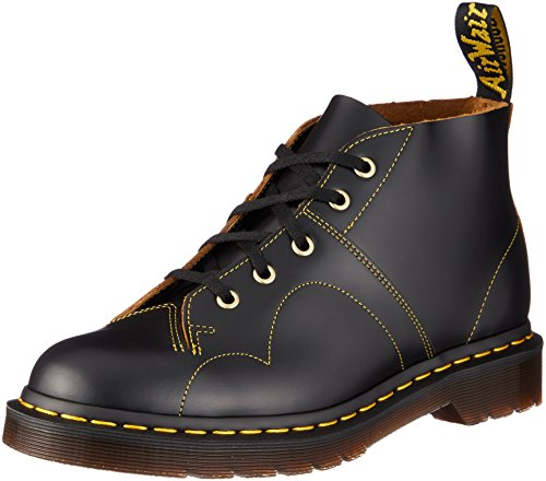 Dr. Martens Men's Church 5 Eye Monkey Lace Up Casual Boots, Black Leather, 9.5 M UK, 10.5 M US