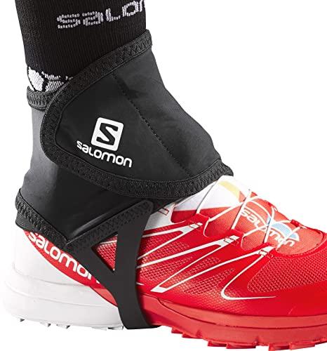 Salomon Trail Gaiters, Black, Large (size 9.5-12)