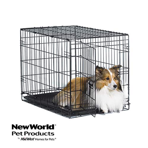 New World 30' Folding Metal Dog Crate, Includes...