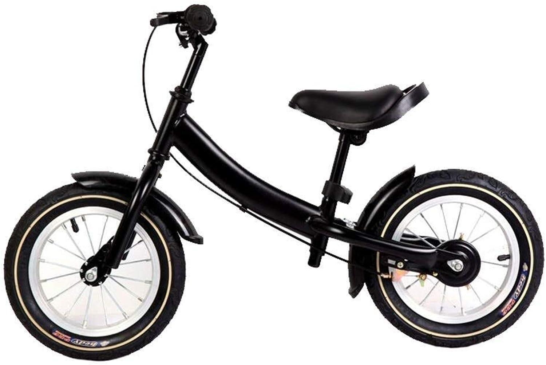 Kinder-Laufrad, Trainingsfahrrad mit Handbremse Für Kinder von 2, 3, 4, 5, 6 Jahren, leichtes Laufrad, 12-Zoll-Trainingsfahrrad ZHAOFENGMING (Farbe   schwarz, Größe   12-inch)