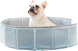 Dorakitten Piscina de bano para Mascotas Banera Plegable de Mascotas Bano Portatil para Animales Piscina para Perros y Gatos Adecuado para Interior Exterior al Aire Libre Cielo Azul (80 x 20 cm)