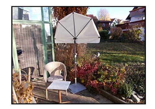 Holly WEISSER Kleiner Balkon Sonnenschirm FÄCHER + SCHIRMSTOCK + STÄNDER Produkte STABIELO -