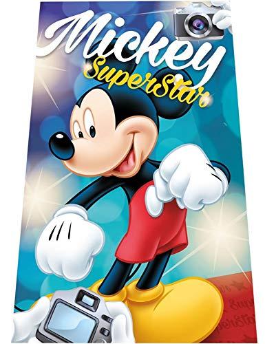 KK Disney Mickey Star Fleecedecke Schmusedecke Kuscheldecke 100 x 150 cm