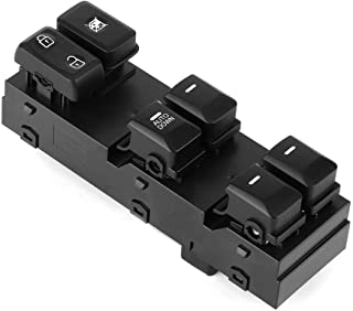 KIMISS Window Control Switch,Front Left Power Window Switch Button 16Pin 93570-3W000 Fits for Sportage 2011-2016