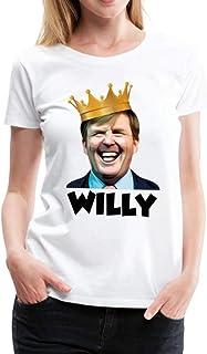 Spreadshirt Willy Koning Willem Alexander Koningsdag Feestje Vrouwen Premium T-shirt