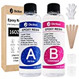 Epoxy Resin - 16 Oz. Art Resin, Crystal Clear Resin Kit, Epoxy Casting and Coating for Art, Jewelry,...