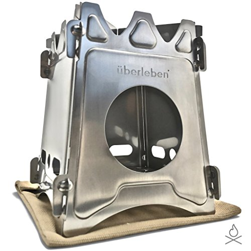 Überleben Stoker Flatpack Stove | Twig, Stick, or Wood Burning | Compact & Collapsible | 304...