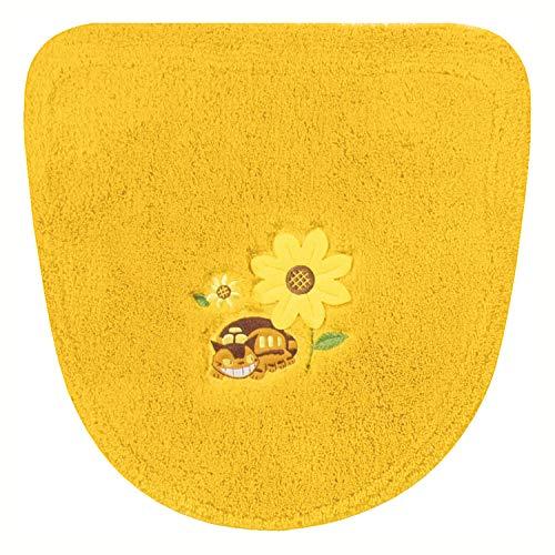 センコー となりのトトロ 花のバス停 トイレ 洗浄 ふたカバー イエロー 温水洗浄・暖房用 ねこバス 19751
