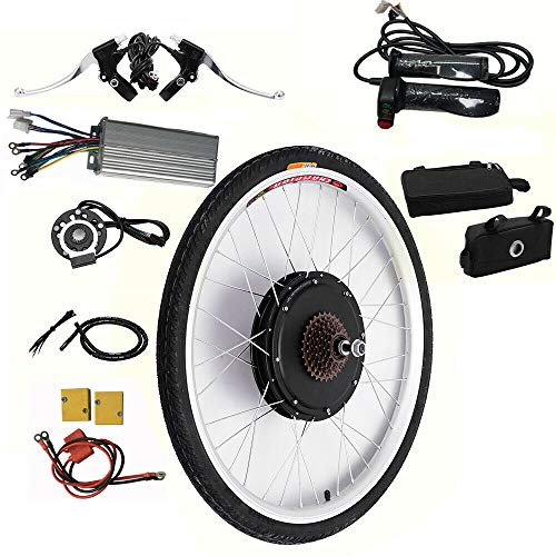 OUKANING 26' 48V Rear Wheel Electric Bicycle Motor Conversion Kit E-bike Cycling Hub 1000W