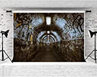写真撮影のためのHDグラフィティトンネルの背景神秘的な床の写真の背景ポートレート写真ブースの小道具綿10x7フィートLYFS880