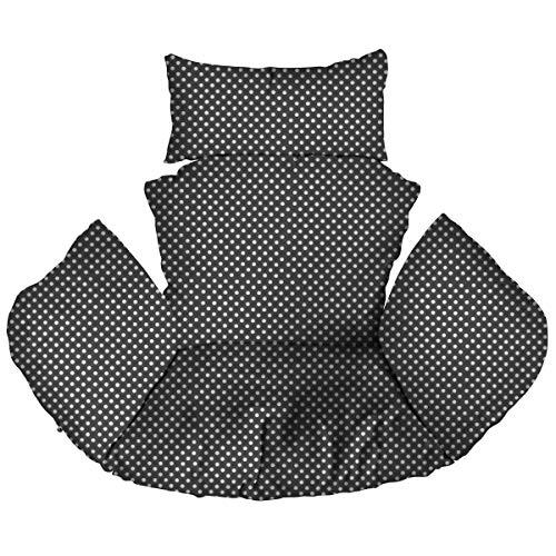 Ferocity Hängesessel Kissen, Polster, Auflage für Polyrattan/Rattan Hängeschaukel, Hängekorb, Schaukel Korb, Rückenkissen Dots [114]