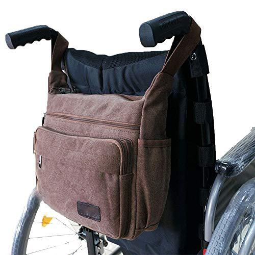RANRANHOME Rollstuhltasche Rollstuhl-Leinwand-Tasche Side Pouch Korb Aufbewahrungsveranstalter Tote Mobilitätsgeräte