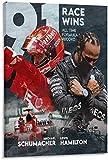 Lienzos De Fotos 40x60cm Sin Marco Póster de Michael-Schumacher Lewis-Hamilton Legend of F1 Race of All Time lienzo arte de pared pósteres impresiones artísticas carteles Rom imagen colgante