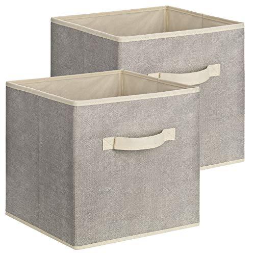Quadratische Aufbewahrungsbox aus Stoff, 30 x 30 x 30 cm - 2 Stück
