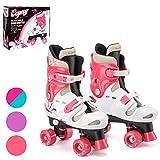Osprey Patines infantiles de 4 ruedas en paralelo. Patines quad para niños y niñas principiantes....
