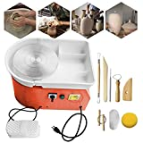 ZXMOTO 9.8'/25cm Electric Pottery Wheel Pottery Ceramic Forming Machine with Adjustable Foot Lever Pedal for...