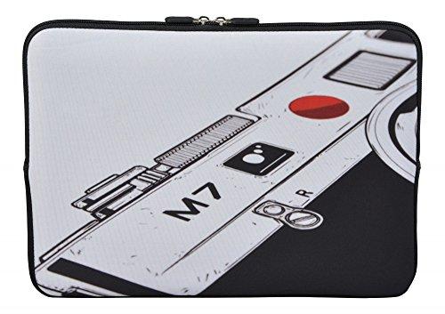 MySleeveDesign Laptoptasche Notebooktasche Sleeve für 10,2 Zoll / 11,6-12,1 Zoll / 13,3 Zoll / 14 Zoll / 15,6 Zoll / 17,3 Zoll - Neopren Schutzhülle mit VERSCH. Designs - Camera [17]