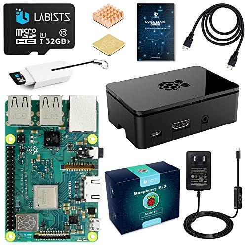 ABOX Raspberry Pi 3 Model b+ ラズベリーパイ 3 b+ MicroSDHCカード32G/NOOBSシステムプリインストール/...