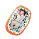 SLEEPAA Babynest multifunktionales Kuschelnest Babys Nestchen Reisebett Hergestellt in der EU 0-6 monate Maße: 85x50x8 cm Made In Spain (Jungle Rock)