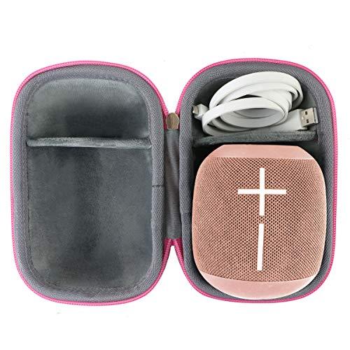 co2CREA Harte reiseschutzhülle Etui Tasche für Ultimate Ears UE Wonderboom 1/ Wonderboom 2 Bluetooth-Lautsprecher (Rosa)
