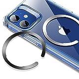 ESR Anillo Universal HaloLock, Kit Conversión Carga Inalámbrica Magnética, Anillo Metal Compatible MagSafe, Compatible iPhone12/12 mini/12 Pro/12 Pro MAX y Samsung Galaxy,2 Unidades,Negro y Plata