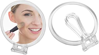 Double Sided Folding Handheld Mirror -6.1inch 1X 10X Magnification Travel Makeup Mirrors,Snowflakes SN-001 Hang Mirror