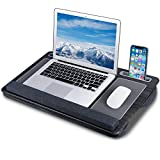 Laptop Lap Desk, NEARPOW Lap Desks for Adults with Removable Pillow Cushion Cover, Right Left Mouse Pad and Wrist Pad, Fits up to 17 inch,Laptop Stand with Tablet Phone Holder for Bed Sofa Couch Floor