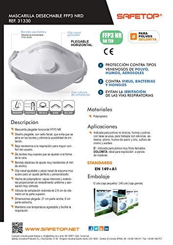 MASCARILLA PROTECCIÓN NORMATIVA_FFP3 SAFETOP (Unidad)