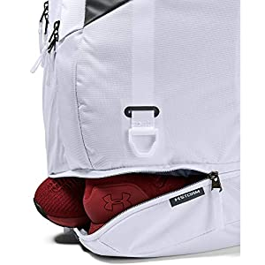 Under Armour Hustle 4.0 Backpack, White (100)/Pitch Gray, One Size Fits All
