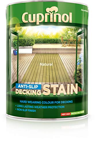 Cuprinol 5097040 Anti-Slip Decking Stain Exterior Woodcare, Natural