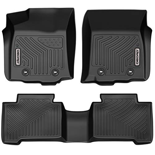 OEDRO Floor Mats Compatible for 2018-2021 Tacoma Double Cab Automatic ONLY, Unique Black TPE...