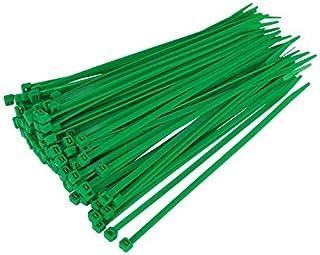 Gocableties 100 Stück, Kabelbinder grün, 300 mm x 4,8 mm, Premiumqualität UV beständiges Set