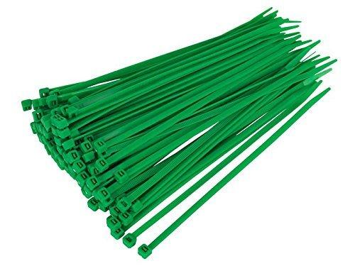 Gocableties Bridas de Plastico, Verde, 300 mm x 4,8 mm, Bridas Cables de Pimera Calidad, 100 Piezas