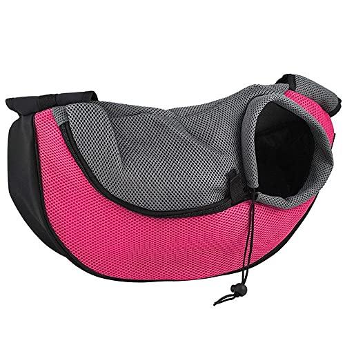 Mochila Perro Bolsa Frontal Transpirable para Cachorros Talla S 1Uds Eslingas De Malla para Exteriores Portador De Perros Cómodo Bolso De Hombro para Mascotas Bolso para Gatos 09