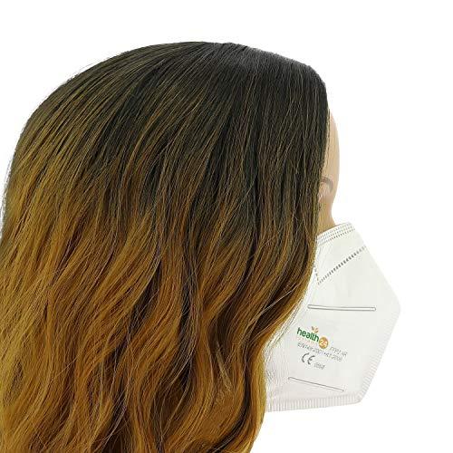 FFP2 Atemschutzmaske 20 Stück Packung einzeln Verpackt CE-Zertifizierte Atem Maske DEVELLE Schutzmaske für alle Bereiche - 5