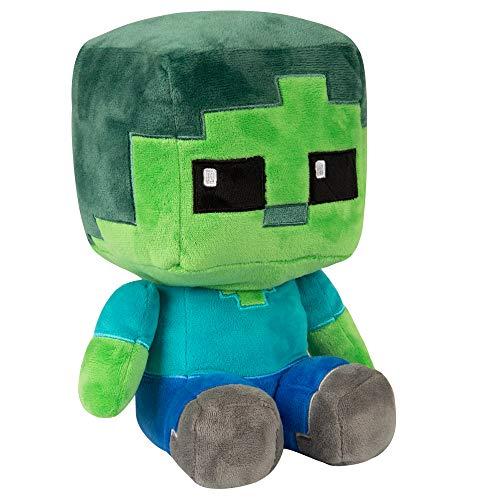 "JINX Minecraft Crafter Zombie Plush Stuffed Toy, Multi-Colored, 8.75"" Tall"
