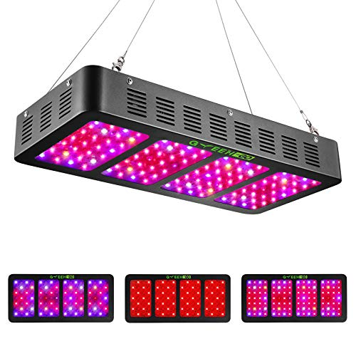 1200w LED Grow Light with Veg&Bloom Switch,GREENGO 3 Chips LED Plant Grow Lamp...
